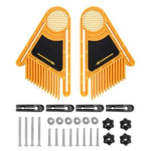 2adet Ters Kazıma Makinesi Tüy Kurulları Tüy Loc Kurulu Seti Ahşap Gereçler Çift Featherboards Gönye Ölçer Yuvası
