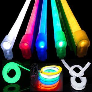 LED النيون LED المرن حبل ضوء 110V 220V PVC LED شرائط داخلي فليكس في الهواء الطلق أنبوب ديسكو بار حفلة عيد الميلاد الديكور