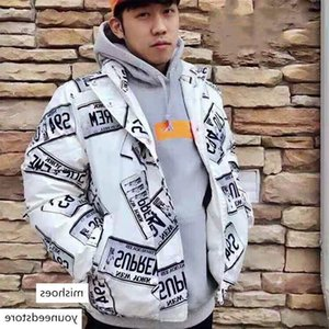 18fw Box Logo Down Star Classic Coats Couple Coat Winter Outerwear Warm Fashion Street Jacket Windproof