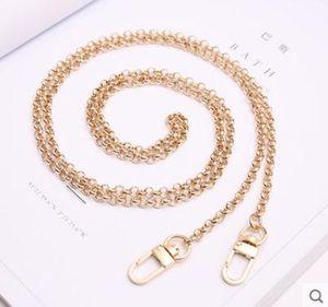 Lady Çanta Kanca Klip 120 cm birçok türde için Üst Sınıf Altın Ton Alaşım Metal Uzun Zincirli Omuz Kayışı
