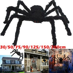 Halloween Große Spinnen-Dekoration Horror Größe Plüsch-Spielzeug-Party House Scary Fun Halloween Lecken Plüsch Spinne
