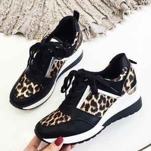 2020 zapatos de leopardo de las zapatillas de deporte de la mujer nueva plataforma estilos de las mujeres con estilo de suela gruesa Deportes Moda Tamaño peso ligero 36-41