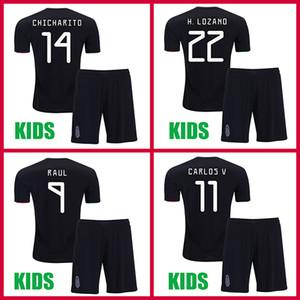 Camisetas de fútbol de mexico para niños 2019 LOZANO CHICHARITO copa de oro camiseta de fútbol niño DOS SANTOS mexico Camisetas de futbol LAYUN maillot de foot Kids gold cup mexico jersey