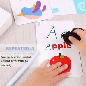 بطاقة كتب A-Z الأبجدية بطاقة فلاش الإنجليزية 0-100 أرقام بطاقات المعرفي الرياضيات كتاب للأطفال بخط اليد التعلم ألعاب تعليمية
