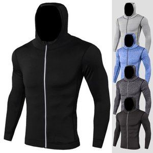 Mens Thin Bodybuilding Hoodies Zipper Fitness Sweatshirts Male Workout Fitness-Studios Kapuzenanzug Slim Fit Kapuzen-Jacken