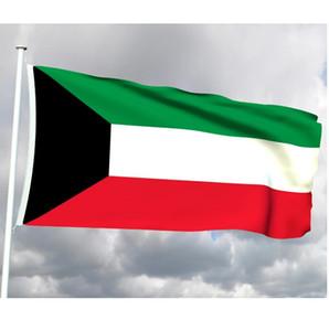 Kuwait Bandiera 0.9x1.5m personalizzato 3x5ft KW KWT KUW Nazionale Paese bandiere del Stato del Kuwait poliestere di stampa, trasporto libero