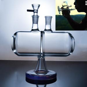 Tubi recenti invertibile Gravity Bong di vetro Infinity cascata d'acqua unico Dab Rigs Con 14 millimetri di spessore Joint Oil Rigs Viola Verde 7 pollici