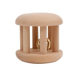 infant toys wooden rattles drum educational toys round bell 24 months toys shaper trinmmer shirts supplies