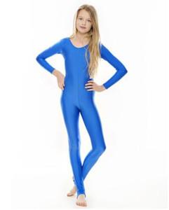 여자 여자 라이크라 긴 소매 댄스 Unitard 아이 Stirrups Catsuits 스판덱스 체조 Leotards Dancewear 멋진 드레스 할로윈 의상