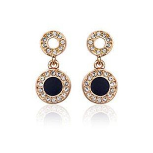 Jewelry wholesale 18 k gold plated with crystal high-end fashionable earrings for woman