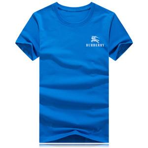 2019 War horse Brand BIG LOGO Hombre Camisa de Verano Camisetas Para Hombres camiseta de Moda Tops Impreso Ropa de Manga Corta
