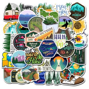 50 Pcs / lot Hockey Viagens Adesivos Outdoor Adventure Wildness Paisagem Waterproof Mala Laptop PVC Decal para carro