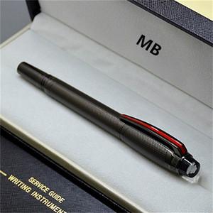 Top de alta calidad de la serie MB pluma Urban Speed Gris y Negro Perlage bolígrafo Roller PVD chapado cepillado superficies con número de serie MBHD2014