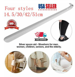 Four styles Long Handled Metal Shoe Horn Lifter Stainless Steel with Hanging Hole