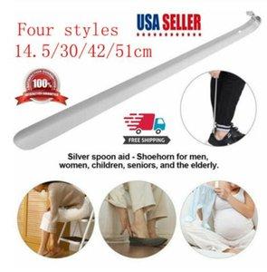 Quattro stili manico lungo metallo calzascarpe Lifter in acciaio inox con appeso buca