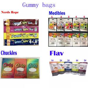 Gummies imballaggio sacchetti di caramelle Chuckles Gummy worm Nerds Rope Medible Flav borse commestibili 420 odore borse prova mylar