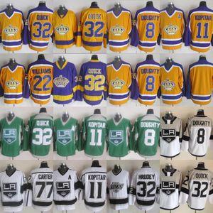 2018 New Style # 8 Drew Doughty 11 Anze Kopitar 23 Dustin Brown 32 Jonathan Quick 77 Jeff Carter Hockey Jersey