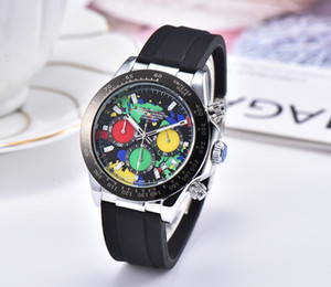 Wholesale Sport RO Luxury Big Dail Watch Automatic Watch full Rubber Watchband waterproof Mens Watches For USA Christmas gift