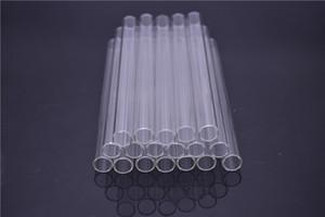 Tube de paille en verre Pyrex Love Rose Glass Tube de brûleur à mazout Pipe à huile Tuyaux en verre épais - 15cm