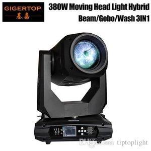 Gigertop Новый 380W 3IN1 Moving Head Light Beam Wash Пятно Гобо 3 IN 1 Effect Professional Stage Lighting RDM Функция масштабирования Фокус