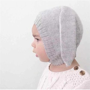 Baby Ears Hat Infant Toddler Knitted Caps for Children Baby Beanie Hats Autumn Winter Accessories Photography Props