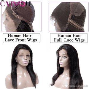 Brazilian Virgin Hair Straight Lace Front Wigs & Full Lace Human Hair Wigs For Black Women 8-24 inch Silky Straight Hair Wigs Wholesale Deal