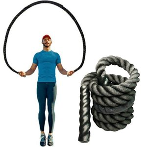 2.8m Fitness Heavy Jump Rope Crossfit Weighted Weights Battle Skipping Ropes Power Training Improve Strength Building Muscle Fitness