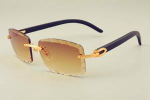 2019 الشحن المجاني جديد الساخنة عدسة بيع النقش نظارات 8100915 الطبيعي الذراع السوداء النظارات جدا، ظلة للجنسين، عدسة 3.0 سمك