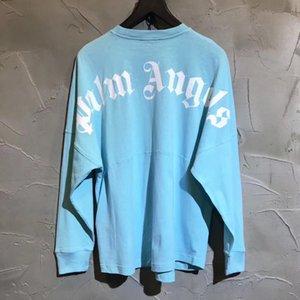 sport casuali degli uomini PA ANGELS nuova primavera e l'autunno PALM 2020SS di toccare il fondo lettera shirt stampata T-shirt a maniche lunghe