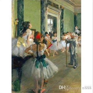 Edgar Degas Ballett-Klasse Alter Meister Handpainted Impressionist Portrait Art Ölgemälde Wand-Deko Wohnkultur auf Leinwand-P216 200312