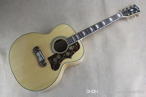 솔리드 가문비 나무 위로 / 사이드 호랑이 줄무늬 SJ200 어쿠스틱 일렉트릭 기타