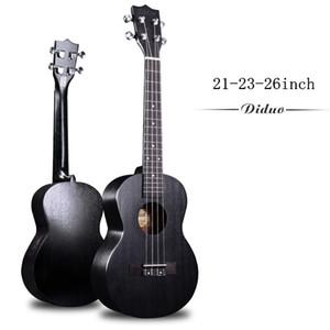 Soprano Concert Tenor Acoustique Électrique Ukulélé 23 Pouces Mini Guitare Ukelele Acajou Noir Guitarra Uke