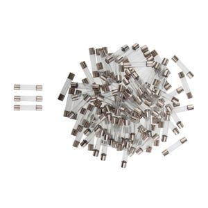 100pieces fusion rapide temps de retard en verre fusible 1A 250V 6 X 30 mm