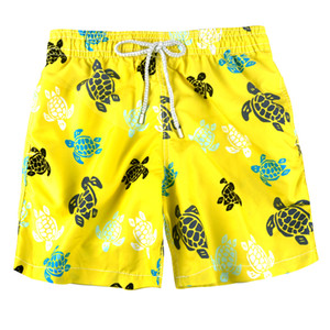 Yellow Summer Men's Swim Trunks Quick Dry Printed Flag Bathing Suit Beach Shorts Loose Fashion