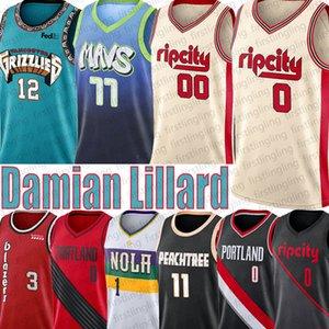 Damian Lillard 0 Carmelo Anthony 00 12 Ja Morant Zion Jersey Williamson Luka Jersey maillots de basket-ball Doncic