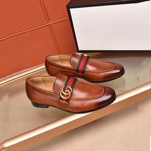 Haute qualité Chaussures habillées formelles pour hommes doux marques d'origine Chaussures en cuir bout pointu concepteur Hommes d'affaires Oxfords Casual chaussures Taille 45