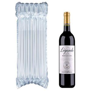 PE Çanta Hava Dunnage Çanta Hava Dolu Koruyucu Şarap Şişesi Wrap Şişme Hava Yastık Sütun Sarma Torbaları Ücretsiz Bir Pompa ile