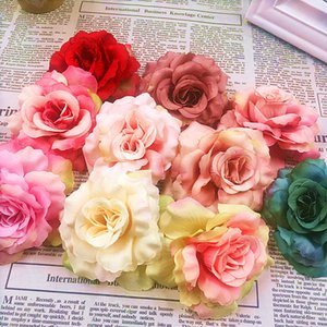 5pcs (8 cm a) simulation of artificial silk silk cloth head wedding brooches rose hat wreathe DIY collage of gift items