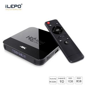 Sıcak Android 9.0 TV Box Rockchip RK3228A H96 Mini h8 4K 2.4 + 5 Ghz Çift Wifi BT4.0 Smart TV Set Üstü Boxs