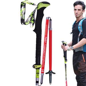 Professional Folding Trekking Poles Carbon Alpenstocks Outdoor Cross-country Walking Leki Hiking-Climbing Mountaineering Sticks