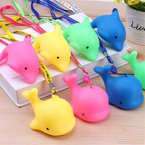 Cute Mini Dolphin Whale LED Glowing Jouets pour enfants Glowing Pendentif Décoration Trousseau Enfants Cadeaux Enfants jouets