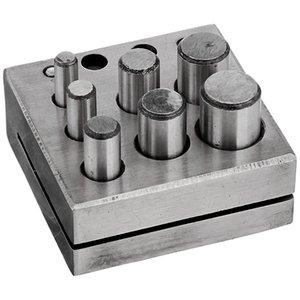 Turno Disc Cutter 7 Punch Tool Set taglio di metalli di base quadrato Gioielli Gioielliere