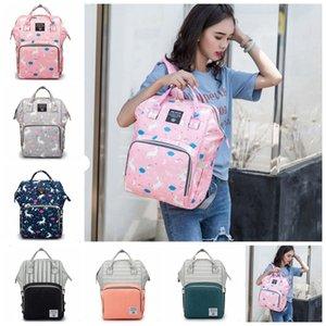 Handbag Bags Backpack Unicorn Printed Nappy Bags Waterproof Nursing Baby Diaper 11 Backpacks Fashion Diaper Care Travel YYW2482 Colors Qmfj