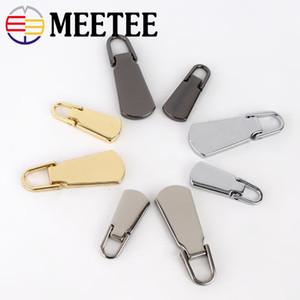 Meetee 5 # Abnehmbare Metallreißverschluss-Abzieher für Zipper Sliders Kopf Zipper Reparatursätze ziehen Tabs DIY Nähzubehör ZT101
