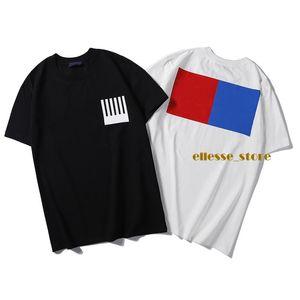 19ss Monogram mektup geometrik baskılı moda tasarımcısı erkek T-Shirt yaz T shirt tişörtleri Tee rahat basit Erkek Kadın Sokak kısa kollu