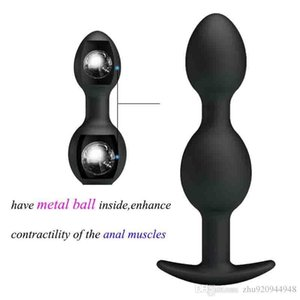 Ball Bead Butt Waterproof Hits Masturbator Metal The Trainer Wall Anus Inner Silicone Anal Plug Anal Sex Toys Muscles Ahlbw