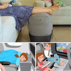 حار المنسوجات المنزلية مفيدة نفخ المحمولة السفر مسند وسادة طائرة القطار أطفال سرير بقية القدم الوسادة