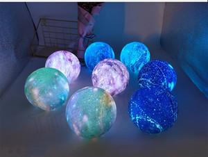 chaud 4 couleurs nouvelles lumières créatif mené rêve étoile Eclairage de Noël pour les enfants lampe de couleur d'impression 3D Lune Jouets T2I5676