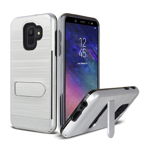 Для Foxxed Miro L590A Samsung Примечание 5 4 Польский Brushed Metal Hybrid Доспех Kickstand Case Card Slot Cover Oppbag