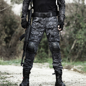 Tactical Pants Men Cargo Pants Military Knieschoner SWAT-Armee-Tarnung Hose Woodland Hunter Feldarbeit Kampfhose
